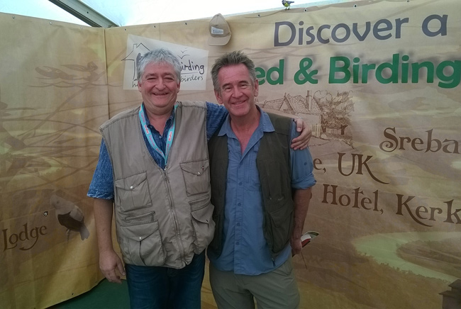Bed & Birding founder, Pavel Simeonov, with Nigel Marven at our stand